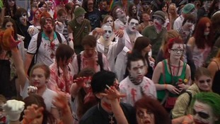 Streets of Prague filled with zombies