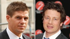 Steve Gerrard and Jamie Oliver