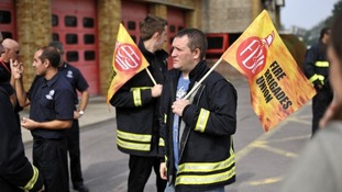 Firefighters stage four-hour walk out over pensions