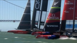 The Oracle overtook the New Zealand team in a dramatic finale.