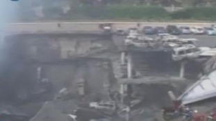 Footage shows scene of devastation in Kenyan mall