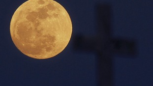 The moon's elliptical orbit is the cause of the larger brighter moon