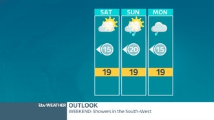 THE WEEKEND: A few showers mainly in the South-West