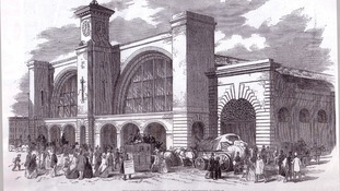 Kings Cross station as it appeared in the 1850s