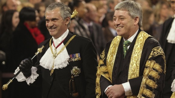 Commons John Bercow (right) walks with , Freddie Viggers in 2009.