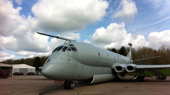 Nimrod on display at Bruntingthorpe Airfield