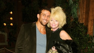 Alex Reid (left) and Lauren Harries arriving at the National Trust gala opening