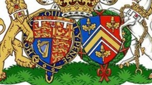 The new Coat of Arms has been created from the individual shields of Wills and Kate.