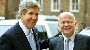 US Secretary of State John Kerry and Foreign Secretary William Hague.
