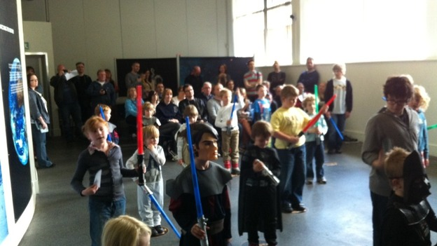 Youngsters 'Jedi training' at Star Wars convention in Leicester
