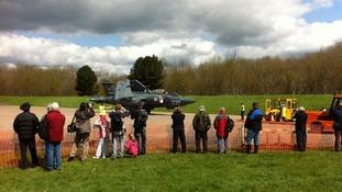 Spectators taking in the Buccaneer
