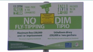 'No Fly Tipping' sign