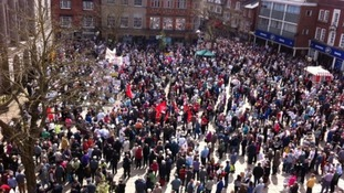 More than 50,000 people turned out for the previous march in support of Stafford Hospital