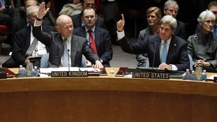 Foreign Secretary William Hague and US Secretary of State John Kerry vote to eradicate Syria's chemical arsenal.