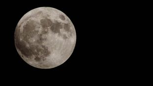 Supermoon seen over Anglesey