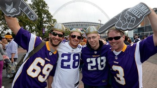 Minnesota Vikings fans who are among the 84,000 fans expected to attend tonight's match at Wembley Stadium.