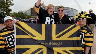 Pittsburgh Steelers fans at the seventh international NFL game to be held in London.