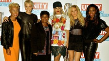 Left to right. Emeli Sande, Jessie J, Doreen Lawrence, Rita Ora, Ellie Goulding and Beverley Knight