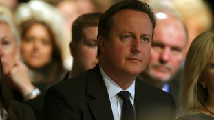 Prime Minister David Cameron at the Conservative conference in Manchester