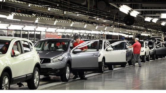 orkers at Nissan working on the Qashqai at the Nissan factory in Sunderland
