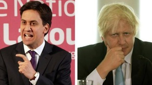 Labour leader Ed Miliband was described by Boris Johnson as being 'like a turbine inert on a windless day'.