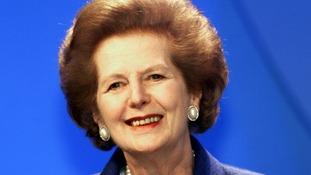 Former Tory Prime Minister Margaret Thatcher.