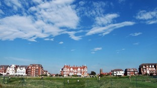 Sunny skies over St. Annes, Lancashire.