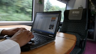 Computer on a train