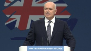 Iain Duncan Smith addresses the Conservative Party conference.