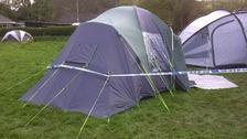 Scene at campsite