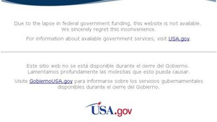 The NASA website also closed its electronic doors due to the shutdown.