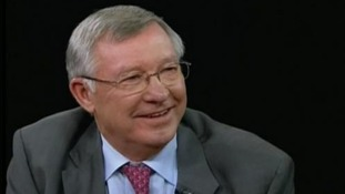 Alex Ferguson being interviewed on PBS