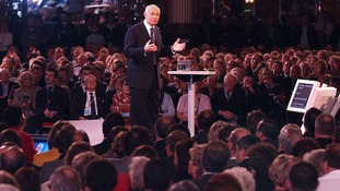 Iain Duncan Smith speaking at the Conservative Annual Conference held in Blackpool