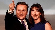 Prime Minister David Cameron and his wife Samantha after his speech at the Conservative Party conference in 2012