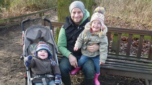Richard Kelly with adopted children Chloe and Jack