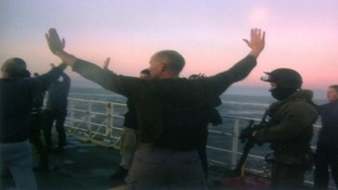 A Greenpeace photo from its ship Arctic Sunrise