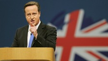 David Cameron spokes to building a 'land of opportunity for all'