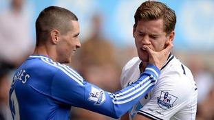 Chelsea's Fernando Torres (left) and Tottenham Hotspur's Jan Vertonghen