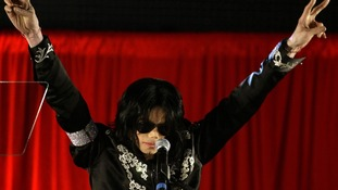 Michael Jackson gestures during a news conference at the O2 Arena in London in 2009 when he announced the tour.