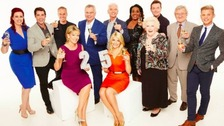 The current This Morning team celebrate the show's 25th anniversary with a glass of bubbly.