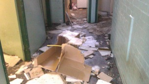 Vandalised Lower Manor Boxing Gym