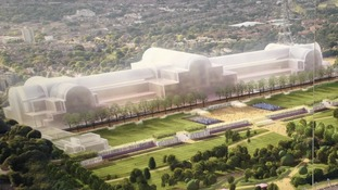 Artist's impression of how a regenerated Crystal Palace Park would look