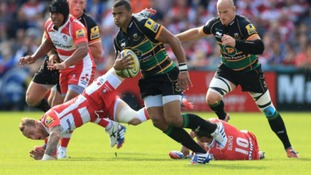Northampton Saints centre Luther Burrell has been shortlisted for the Aviva Premiership Player of the Month award