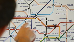 Footballing icons 'rename' London's Underground