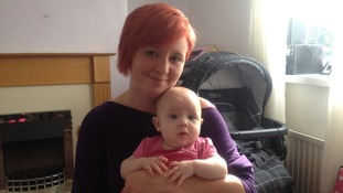 Beckie Thompson and her baby daughter Imogen