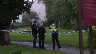 Police were alerted to the presence of a body in St Giles Churchyard on Wednesday morning.