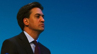 Labour leader Ed Miliband speaks during the first day of Labour's annual party conference.