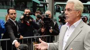 Max Clifford speaks to reporters outside Southward Crown Court