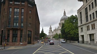 Cannon Street, looking towards St Paul's Cathedral