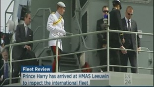 Prince Harry inspects the fleet.